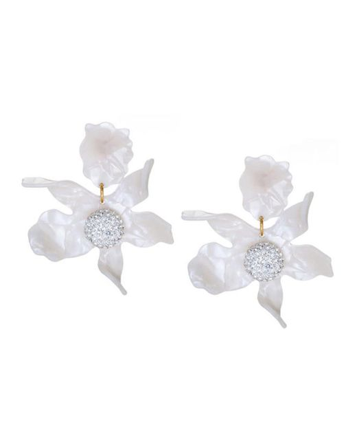 Lele Sadoughi | White Pearl Crystal 'lily' Earrings | Lyst