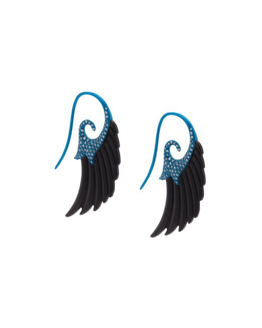 Noor Fares | Sky Blue Fly Me To The Moon Wing Earrings | Lyst