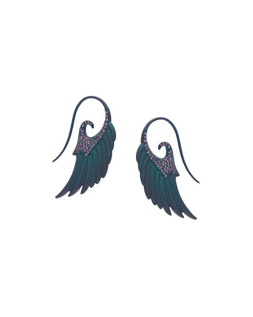Noor Fares - Blue Fly Me To The Moon Earrings - Lyst