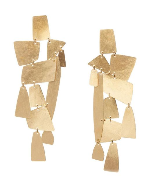 Annie Costello Brown - Metallic Mika Xl Geometric Earrings - Lyst