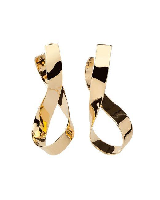 Jennifer Fisher | Metallic Gold Medium Thick Script Earrings | Lyst