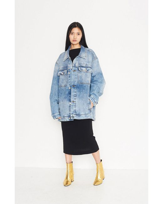 Maison Margiela - Blue Oversized Denim Jacket - Lyst