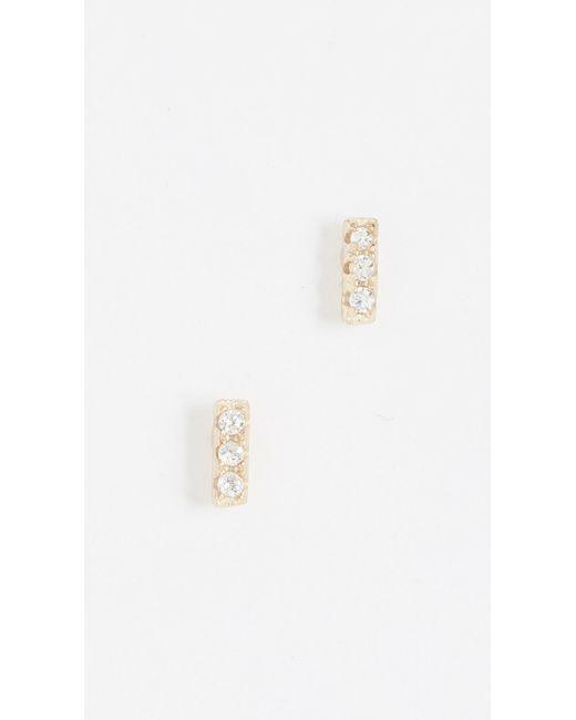 Shashi - Metallic Tiny Bar Earrings - Lyst