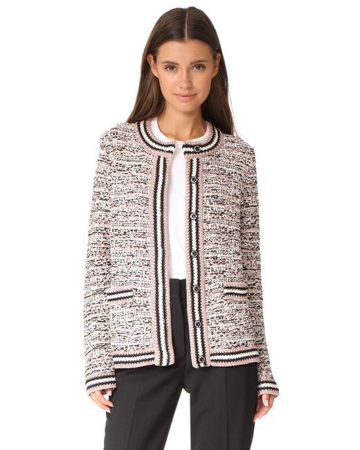 M Missoni | Black Tweed Cardigan Jacket | Lyst