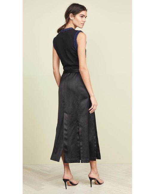 0268354f7085e2 ... 3.1 Phillip Lim - Black Muscle T-shirt Combo Sateen Dress - Lyst ...