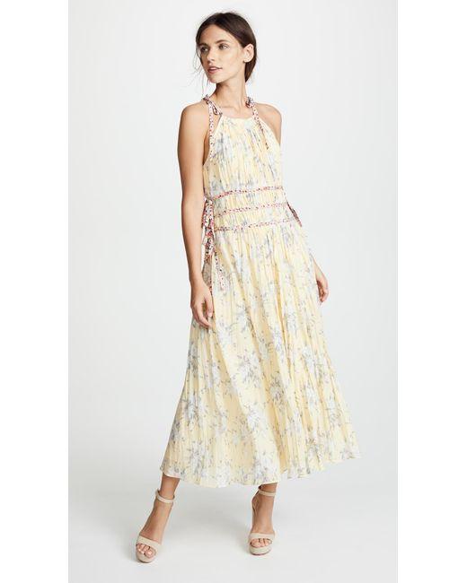 Rebecca Taylor Lemon Pleat Dress - Lyst
