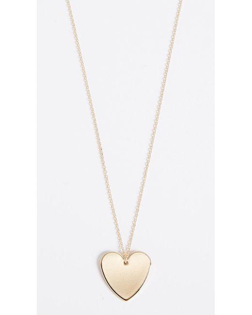 Cloverpost - Metallic Heart Necklace - Lyst