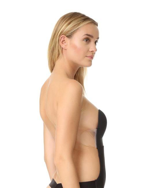 ad43ceffafcbe ... Fashion Forms - Black U Plunge Backless Strapless Bodysuit - Lyst ...