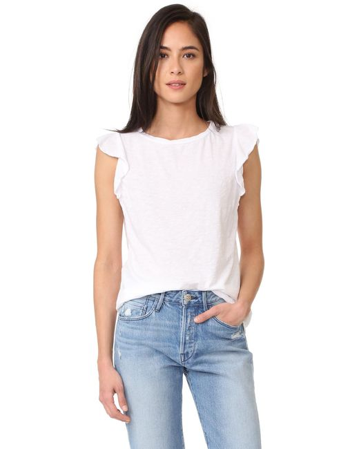 Velvet - White Marylou Top - Lyst