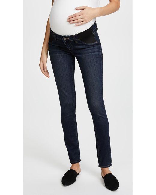 PAIGE - Blue Transcend Verdugo Ultra Skinny Maternity Jeans - Lyst