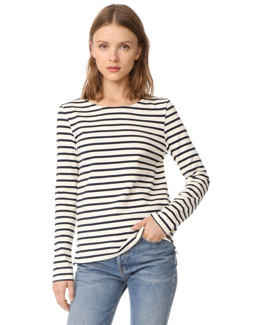 Petit Bateau | Multicolor Leny Long Sleeve Striped Tee | Lyst