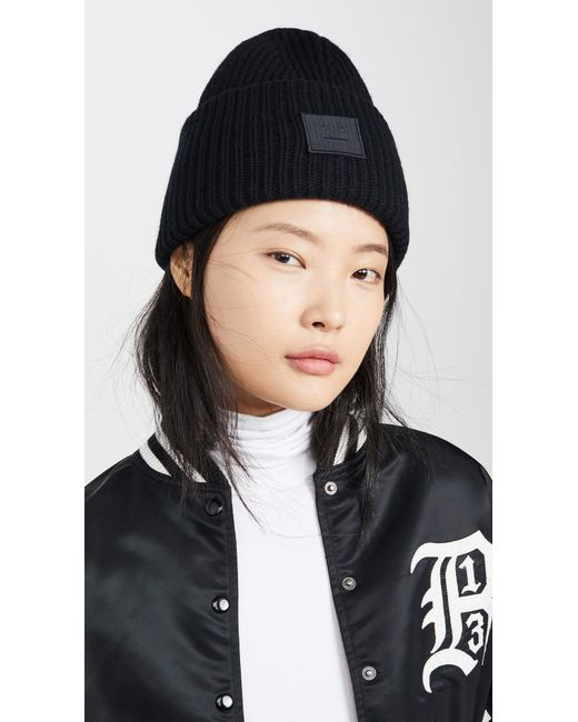 Acne Black Pansy N Face Hat