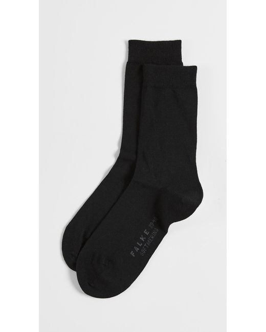 Falke | Black Soft Merino Socks | Lyst
