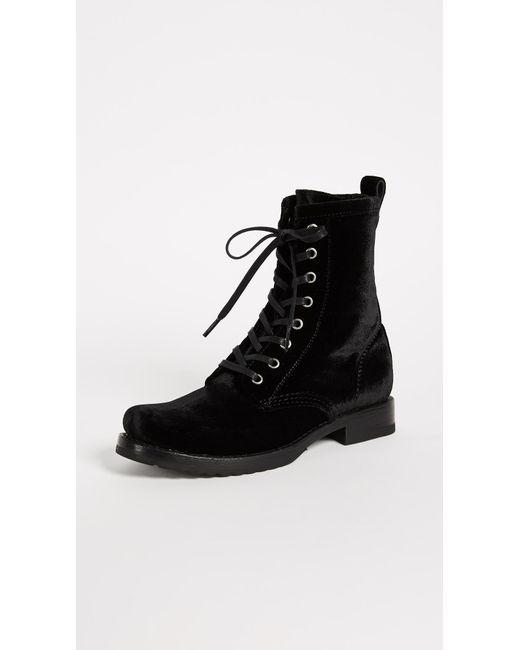 Frye - Black Veronica Combat Boots - Lyst