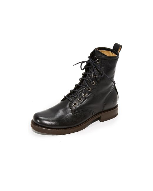 Frye - Black Veronica Combat Boot - Lyst