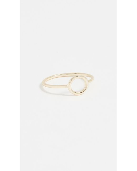 Shashi - Metallic Circle Ring - Lyst