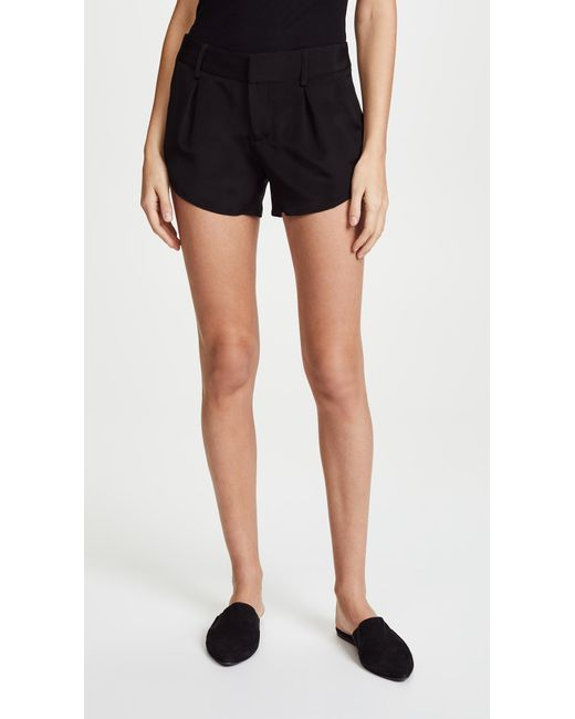 Alice + Olivia | Black Butterfly Shorts | Lyst