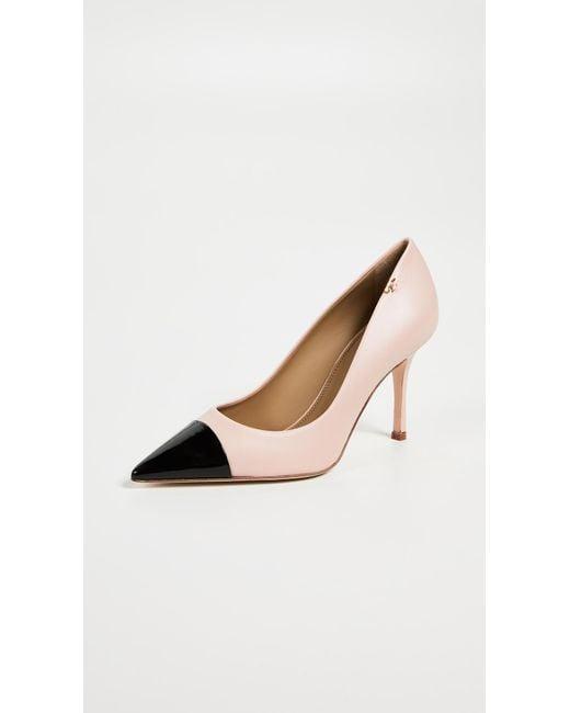 8b7616d48128 Tory Burch Penelope Cap Toe Pump in Pink - Save 6% - Lyst