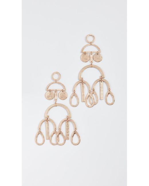 Shashi | Metallic Alicia Large Earrings | Lyst