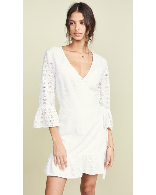 61062399 Melissa Odabash Vogue White Eyelet Coverup Dress in White - Lyst