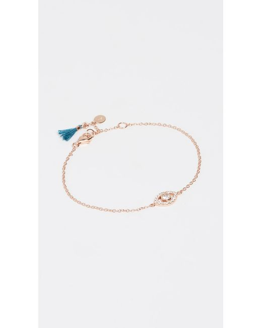 Shashi - Pink Evil Eye Bracelet - Lyst
