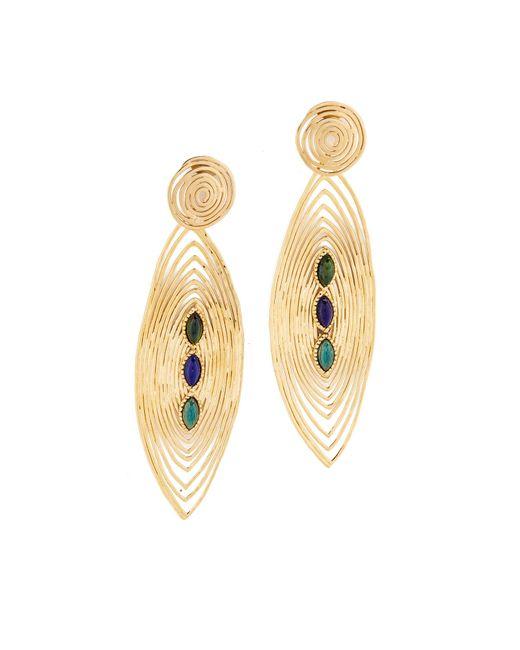 Gas Bijoux | Multicolor Long Wave Earrings | Lyst
