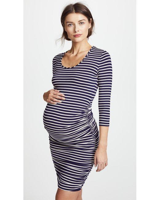 Ingrid & Isabel - Blue Striped Maternity Dress - Lyst