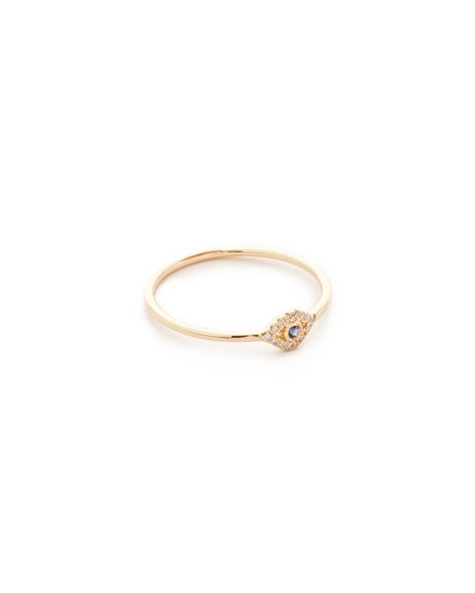 Sydney Evan | Metallic Small Evil Eye Ring | Lyst