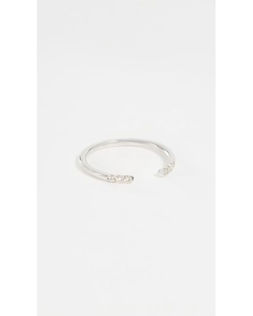 Shashi | Metallic Ava Ring | Lyst