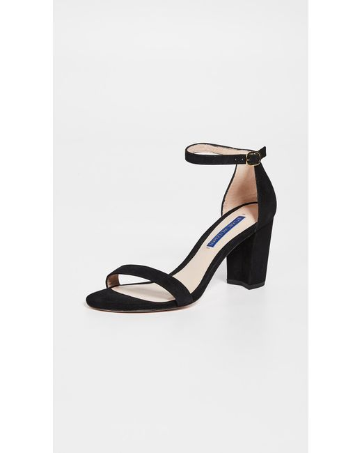 32f2a7073bf Lyst - Stuart Weitzman Nearlynude Sandals in Black - Save 71%