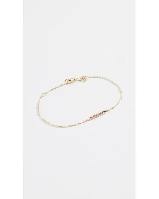Sydney Evan - Metallic 14k Pave Short Rainbow Bar Bracelet - Lyst