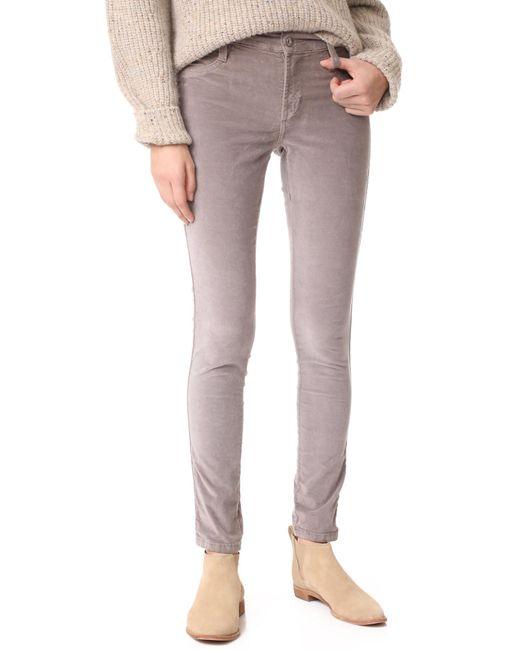 James Jeans | Gray Velveteen Mid Rise Legging Jeans | Lyst