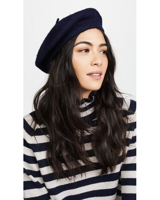 Hat Attack | Blue Wool Beret | Lyst