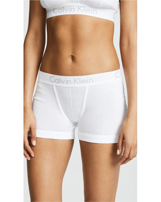 Calvin Klein - White Body Boy Shorts - Lyst