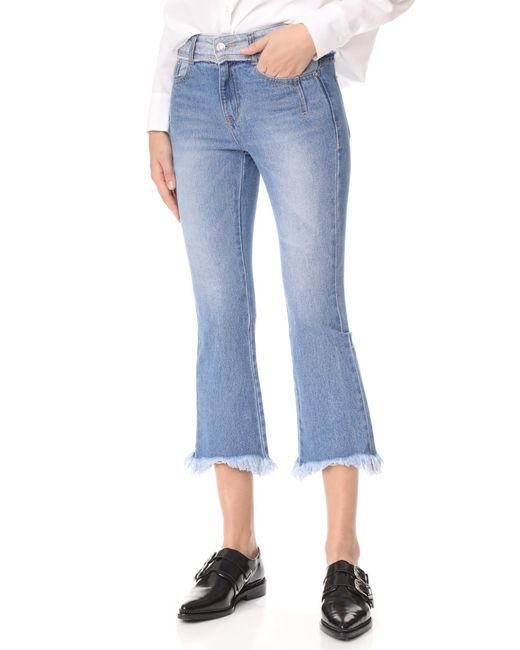 SJYP | Blue Cutoff Jeans | Lyst