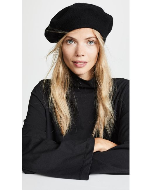 Hat Attack - Black Wool Beret Hat - Lyst