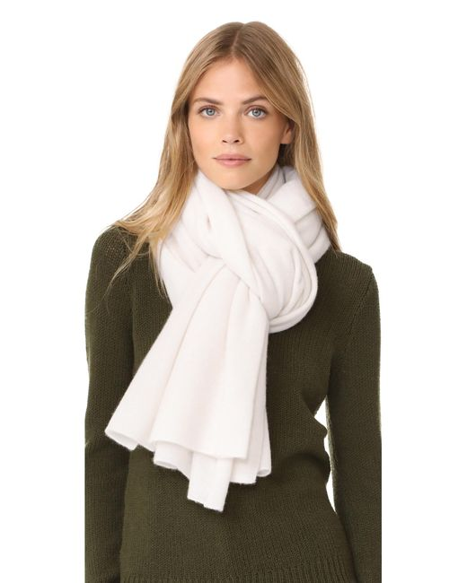 White + Warren - White Cashmere Travel Wrap Scarf - Lyst