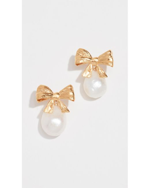 Mirit Weinstock - Multicolor Bow And Pearl Earrings - Lyst