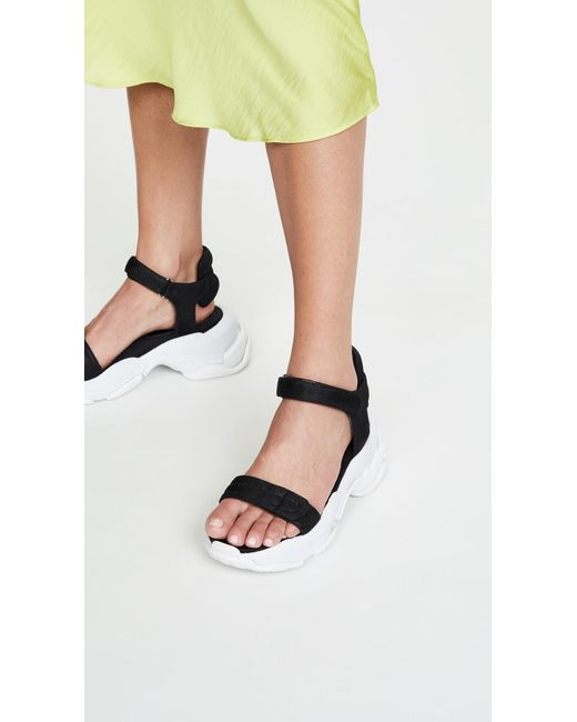 32f5828ff07 ... Jeffrey Campbell - Black Work Out Sporty Sandals - Lyst ...