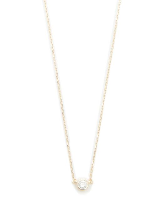 Adina Reyter - Metallic Single Diamond Necklace - Lyst