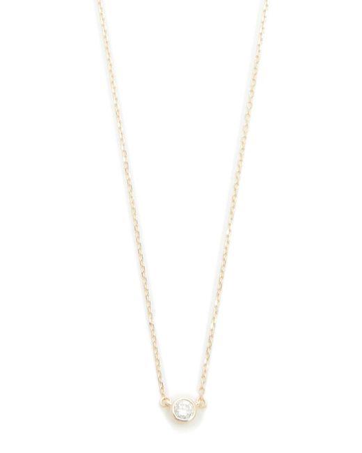 Adina Reyter | Metallic Single Diamond Necklace | Lyst