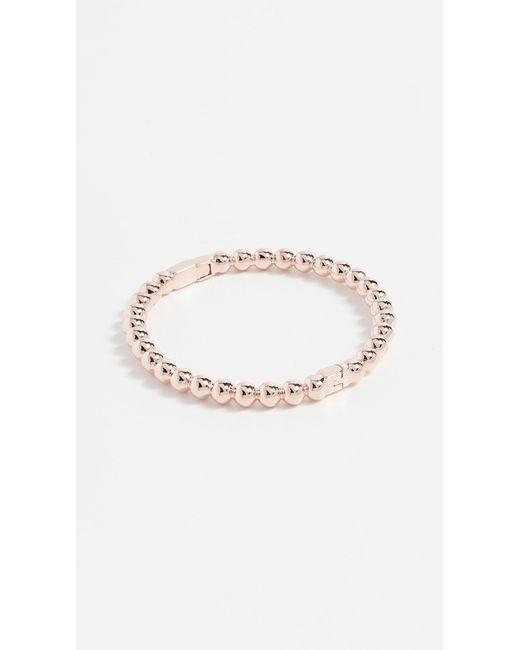 Kate Spade - Metallic Ball Hinged Bangle Bracelet - Lyst