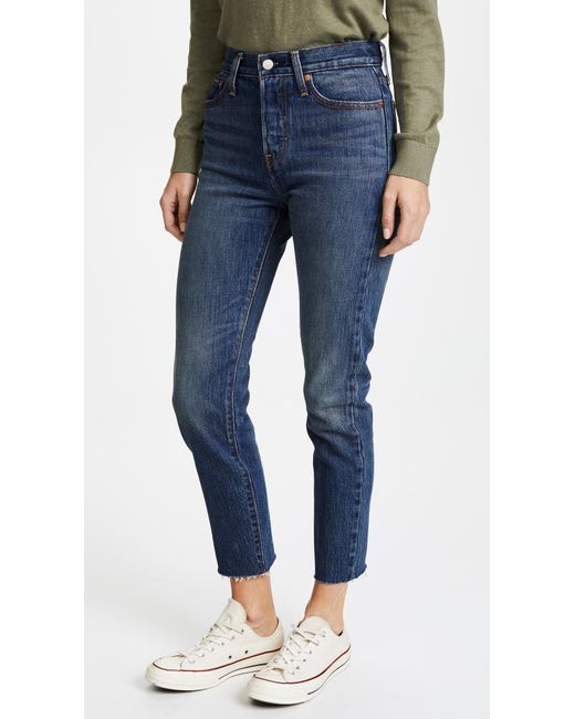 Levi's - Blue Wedgie Icon Jeans - Lyst