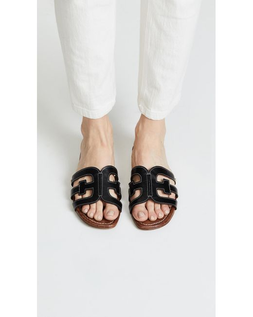 3c45ee4e2 Lyst - Sam Edelman Bay Slides in Black - Save 13%