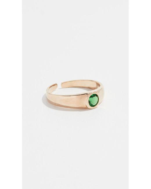 Shashi - Green Bella Ring - Lyst