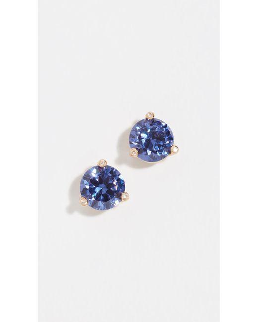 Kate Spade - Blue Rise & Shine Small Stud Earrings - Lyst