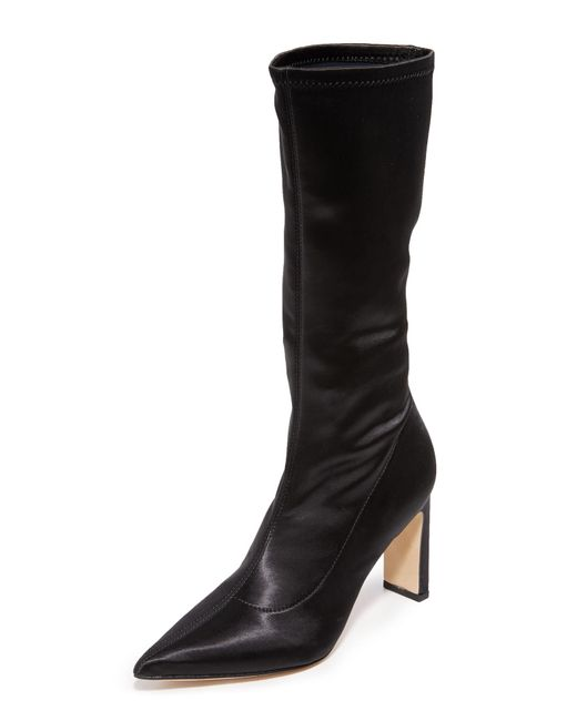 Sigerson Morrison | Black Holly Mid Calf Boots | Lyst