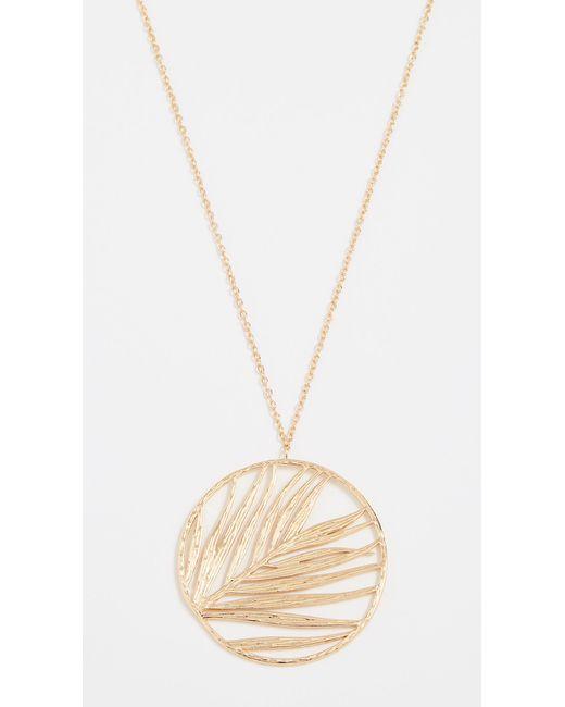 Gorjana - Metallic Palm Pendant Adjustable Necklace - Lyst