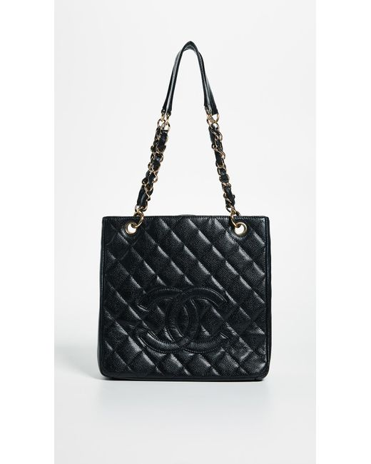 1d4056053c9 What Goes Around Comes Around - Black Chanel Pst Tote (previously Owned) -  Lyst ...