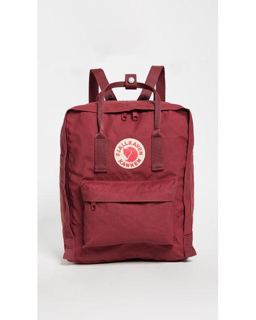 c599b0685 Fjallraven Kanken Backpack in Red - Save 6% - Lyst